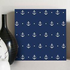Quadro Decorativo Navy Anchors - Gutz Casa
