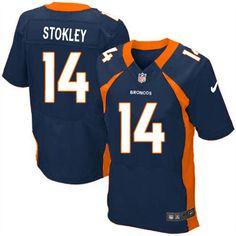Men's Nike Denver Broncos #14 Brandon Stokley Elite Navy Blue Alternate NFL Jersey Sale