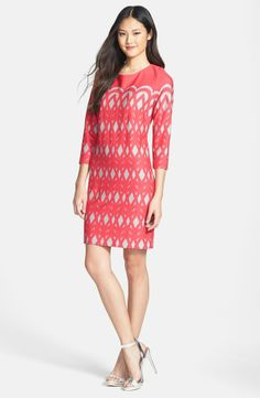 Taylor Dresses Ponte Shift Dress (Regular & Petite) $118