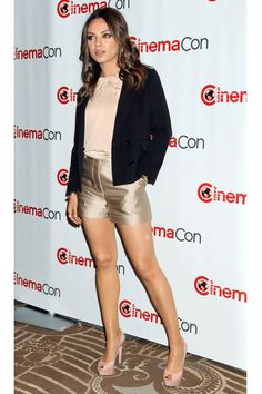 3.1 Phillip Lim silk shorts as worn by Mila Kunis