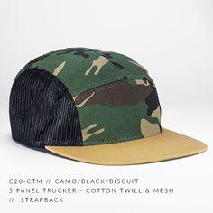 ad3aca6d c20-CTM // 5 Panel Trucker - Cotton Twill & Mesh // Custom Strapback — CAPTUER  HEADWEAR