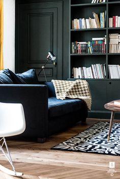 parquet point de Hongrie, peinture mat, style haussmannien