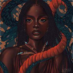 Black Girl Cartoon, Black Girl Art, Black Women Art, Art Girl, Black Girls, Black Art Painting, Black Artwork, Afro Painting, Black Girl Aesthetic