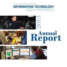 City of Austin, Annual Report, Information Technology 2013