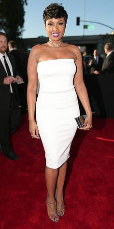 The 57th Annual GRAMMY Awards 2015 - Red Carpet  Jennifer Hudson