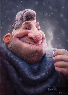 Happy Guy Boris by ktysdal via blenderartists.org