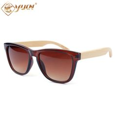 2017 New fashion sun glasses handmade bamboo arms glasses hot sale occhiali da sole bambu sunglasses with bamboo case 1042