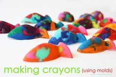 How to melt crayons with Molds shared by Ashley from Make it and Love it here at Skip to my Lou