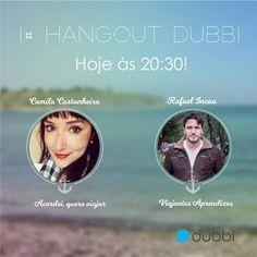 Como diria a cantora Ludmilla: É HOJE! Nosso Hangout vai começar daqui a pouquinho às 20:30!  Participe agora clicando aqui   http://www.dubbi.com.br/videos/como-realizar-a-viagem-dos-seus-sonhos  Até lá!