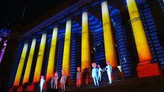 #Leeds #TownHall #steps on #LightNight. The installation is called Pop by #BlauweUur. #IgersLeeds #LeedsPhoto #lights #LightNightLeeds #LightNight2017 #history #culture #city #urban #nighttime #travel #tourism #tourist #leisure #life #Leeds2023 #VisitLeeds #Yorkshire #IgersYorkshire #art #event #eventprofs #entsleeds
