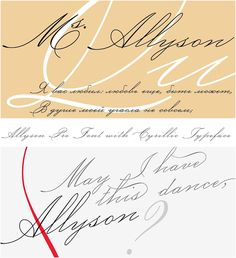 Inroducing lovely thin handwritten font- Allyson Pro with cyrillic typeface…