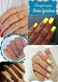 Suene Fernandes: Moda: Inspire-se: Anéis Fininhos.