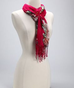 purty redish pink scarf, yes please