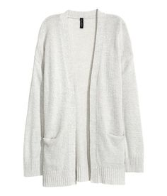 Check this out! Cardigan in a soft knit with dropped shoulders, long sleeves, and front pockets. No buttons. - Visit hm.com to see more.