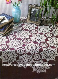 Artes by Cachopa - Croche  Trico: Toalha quadrada