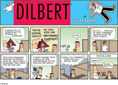 Talent Acquisition - Dilbert by Scott Adams Number Grid, Dilbert Comics, Scott Adams, Office Humor, Funny Office, Funny Work, Joke Of The Day, Website Features, Leadership
