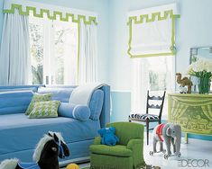 Paint color ideas for shared boy and girl rooms.