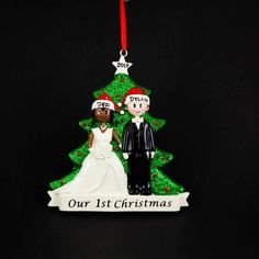 Off Shipping on or More Items Worldwide ------------------------------------------------------- Beautiful Hand Crafted Just Married Couple themed Christmas Tree Ornaments. I will hand-personalize your ornaments in permanent black ink Handmade Christmas Tree, Christmas Tree Themes, 1st Christmas, Christmas Tree Ornaments, Personalized Christmas Ornaments, Handmade Ornaments, Holiday Gifts, Christmas Gifts, Kraft Gift Boxes