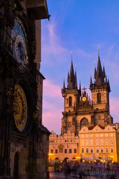 The Astronomical Clock and the Church of Our Lady before Tyn in Prague, Czech Republic