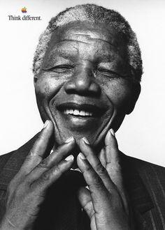 Nelson Rolihlahla Mandela, Jul 18, 1918 – Dec 5, 2013. 1993 – Nobel Peace Prize #Apple #SteveJobs #iPhone #Macintosh #Woz #Museum #Prague #Czech #CzechRepublic #Europe #World #Travel #Think #Different
