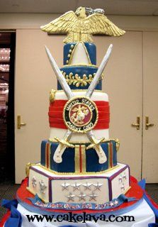 These are some of the Best of the Best Marine Corps Cakes from  around the net.