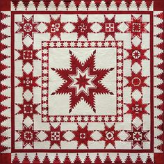 Red, White and Stars. 2016 Raffle Quilt, Austin Area Quilt Guild (Texas).