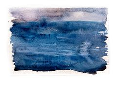 Art originalWatercolor paintingWinter sea in by rakla on Etsy, $25.00