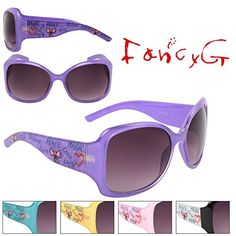 FancyG California Fashion Lovely Fun Style Character Love Peace UV Protection Sunglasses Frame Eyewear  Blue -- To view further for this item, visit the image link.Note:It is affiliate link to Amazon.