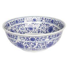 Eden Bath Ming Dynasty Decorative Porcelain Vessel Sink in Blue-EB_PS01 - The Home Depot
