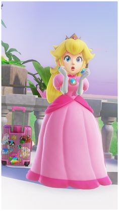 Peach & Mario's Vacation: Mushroom KingdomHer model is absolutely unbelievable. Peach in-game looks better than Peach in promotional renders did not even five years ago. Nintendo has character art.