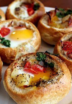 Pão com ovo gourmet …