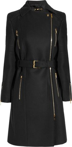 GUCCI Belted Wool Felt Coat
