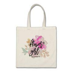 Flower Girl Floral Posie Tote Bag