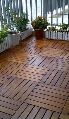 Timber flooring can strike simply the precise word in any type of residence – it seems pure, heat and rustic in a rustic cottage and, [. Balcony Flooring, Outdoor Flooring, Terrace Design, Patio Design, Outdoor Balcony, Outdoor Decor, Balcony Garden, Pallet Floors, Natural Wood Flooring