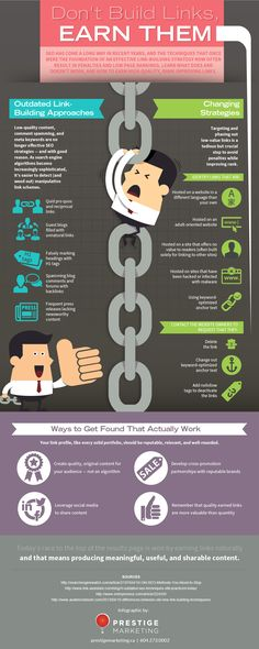 Don't Build Links, Earn Them [Infographic]
