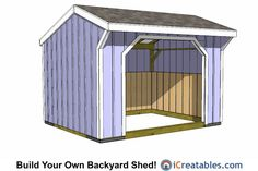 12x12 run in shed plans.