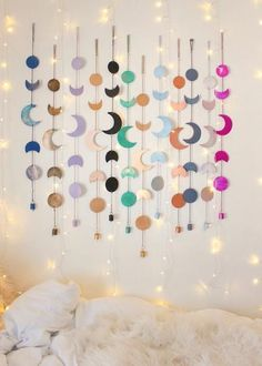 Bring the Moon's Magic into your Home. The Moon Phase wall hanging is perfect for your bohemian home decor. for adults Moon Phases Wall Hanging Decor Diy Home Crafts, Decor Crafts, Diy Room Decor, Bedroom Decor, Bedroom Ideas, Nursery Ideas, Easy Crafts, Room Crafts, Diy Crafts For Adults