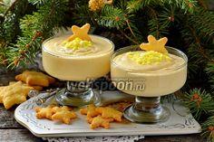 Десерт «Лимонный поссет» Вот такой интересный новогодний десерт увидел у Ольги Бабич и решил повторить. Десерт получается нежным, воздушным, с приятным лимонным ароматом и отчётливой кислинкой. Я вместо предложенных 3 лимонов использовал 1. И при этом десерт получился с весьма и весьма ощутимой кислинкой.Такой десерт можно подать с печеньем «Савоярди», вафлями, фруктами. А можно заморозить и получится отличное мороженое. Сливки для десерта выбирайте самые жирные.