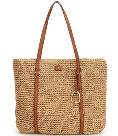 Shop for Lauren Ralph Lauren Crochet Straw Tote Bag at Dillard's. Visit Dillard's to find clothing, accessories, shoes, cosmetics & more. The Style of Your Life. Handbag Accessories, Women Accessories, Clothing Accessories, Stella Maccartney, Ralph Lauren Handbags, Capsule Wardrobe Essentials, Crochet Tote, Straw Tote, Large Tote