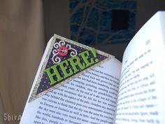 Corner Bookmarks DIY from envelopes.