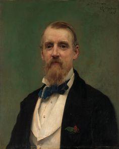 Portrait Of Samuel P Avery, Art Dealer, 1876 by Raimundo de Madrazo y Garetta (Spanish 1841-1902)