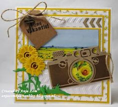 Anja Zom kaartenblog Marianne Design, Craft Materials, Scrapbook Pages, Gift Wrapping, Frame, Flowers, Cards, Fun, Strand