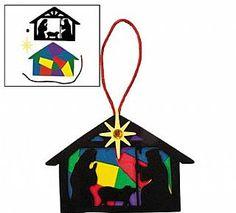 ... Silhouette Foam Ornament Craft Kit for 12 Children Christmas