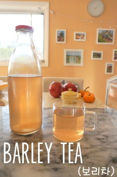 barley tea - toasted barley seeped in water - serve warm or chilled, super refreshing and healthy