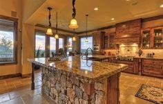 Hamilton Pool Ranch - traditional - Kitchen - Austin - Design Visions of Austin Updated Kitchen, New Kitchen, Kitchen Updates, Awesome Kitchen, Kitchen Living, Living Room, Rustic Kitchen, Kitchen Decor, Kitchen Ideas