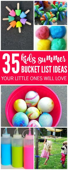 Looking for awesome Summer Bucket List Ideas for Kids this summer? Try these Ideas and Activities for Kids and do a new one each day or week, there's tons of fun you can have without leaving your yard. #summertimecraftforkids