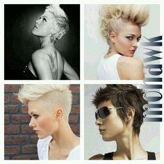 Mohawk-inspirations.. pixie hair