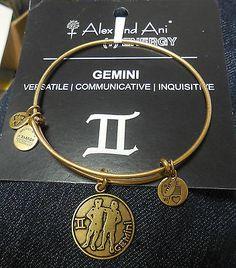 "AUTHENTIC  ALEX & ANI BRACELET ""GEMINI"" RG NWT & CARD - http://designerjewelrygalleria.com/alex-ani/authentic-alex-ani-bracelet-gemini-rg-nwt-card/"