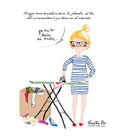 Lucía Be: Planchar es cool Lyric Quotes, Life Quotes, Girl Pictures, Funny Pictures, Blue Art, France, Note To Self, Positive Thoughts, Cute Drawings