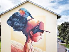 Creative Murals in Stockholm by Yash  Yash is a Swedish street artist who creates many murals in particular in the capital of his country. His colorful and dreamy style focuses on people and animals that are often represented together in the same piece of work. Discover his accurate and inventive brushstrokes below.          #xemtvhay
